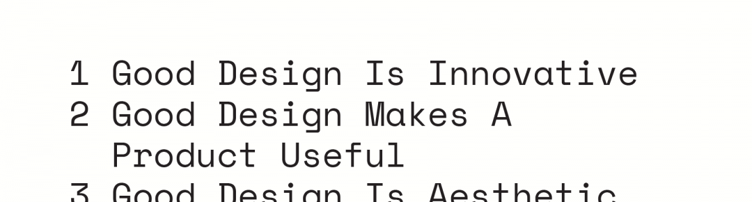 Inspiration – 10 Principles of Good Design
