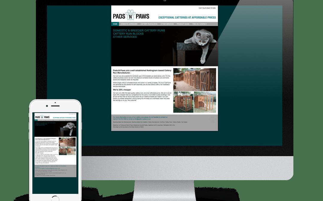 Pads-n-Paws Website